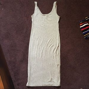 FOREVER21  gray ribbed tank dress L